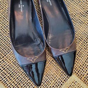 Louis Vuitton Patent Fetish Ballerina Flats